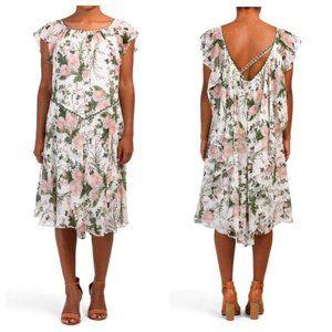 Max Studio NWT FLORAL PRINT CRINKLED GEORGET dress